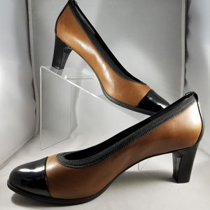 "Rockport 3"" Heels Sz 11 Brown/Black Nearly New"